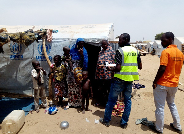 Rebuilding lives in Goudebou, Burkina Faso through decent shelter and delivery of basic item kits