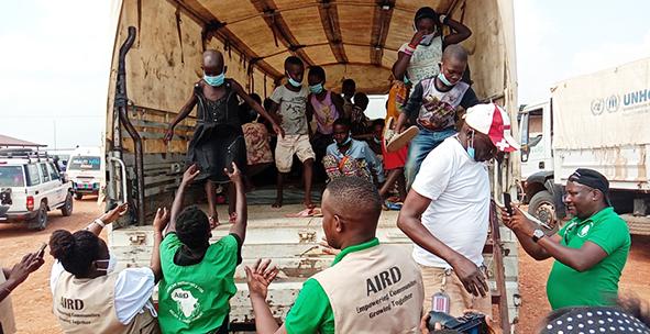 A new transit centre opens for Burundian returnees in Gihanga, Burundi